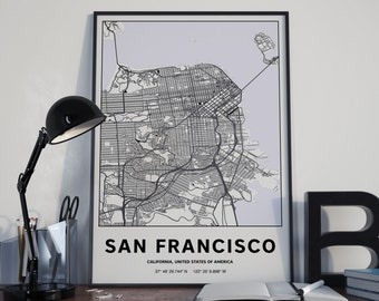 San Francisco - GPS Map Poster