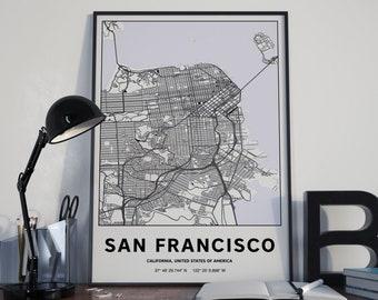 San Francisco - GPS Map Poster