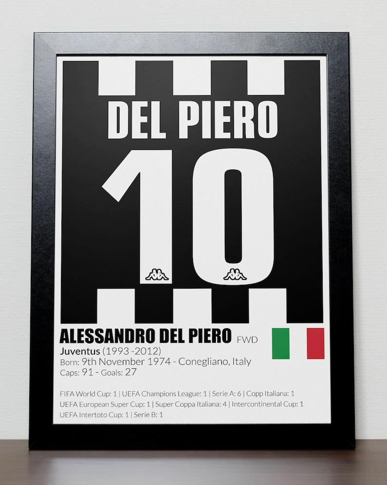 8866d87db4f Juventus Football Legends Poster Del Piero