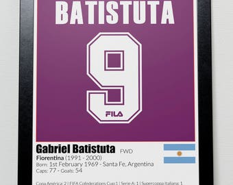 Argentina Legends poster Batistuta Messi