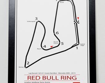Red Bull Ring Austrian Grand Prix Track illustration Poster