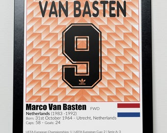Dutch Football Legends Poster Van Basten Gullit Rijkaard
