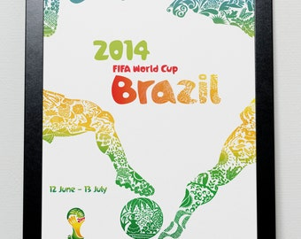 World Cup 2014 poster - Brazil 2014