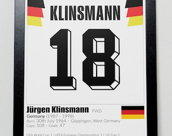 Germany Legends Poster Klinsmann Matthaus