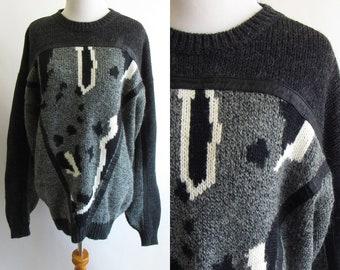 JDS MONOCHROME Dino High-low Crewneck Sweater