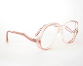 32b750d88a 80s Pink Safety Glasses Frames - Pink Eyeglasses - 1980s Glasses -  Oversized Eyeglasses - Extra Large Glasses - Large 80s Frames - Rem