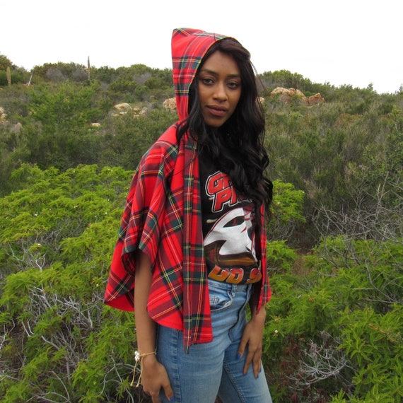 Red Plaid Cape - Classic Little Red Riding Hood Ca