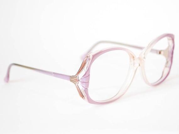 80s Oversized Pearlescent Lilac Eyeglasses Vintage Elan | Etsy