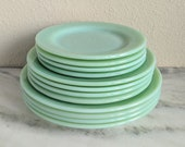Fire King Jadeite Restaurant Ware Plate, Vintage Jadeite Dishes Plates Dining, Fire King Collectible Glassware, Green Milk Glass Plate