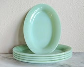 Fire King Jadeite Restaurant Sandwhich Platter, Vintage Jadeite Serving Plate, Fire King Collectible Glassware, Green Milk Glass Platter
