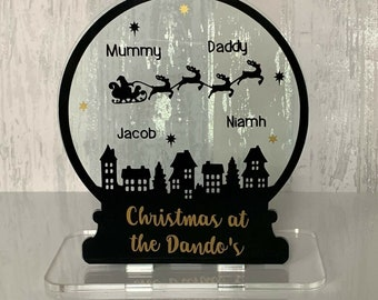Personalised Handmade Snow Globe Christmas Decoration