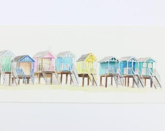 Tiny beach huts