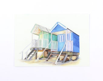Blue and Green huts