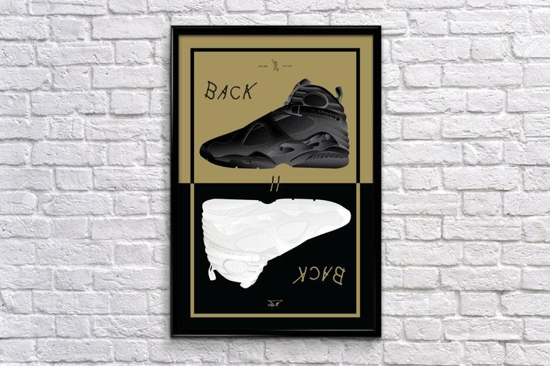 1c4351ede9d333 Back to Back Series  Air Jordan 8 OVO Poster