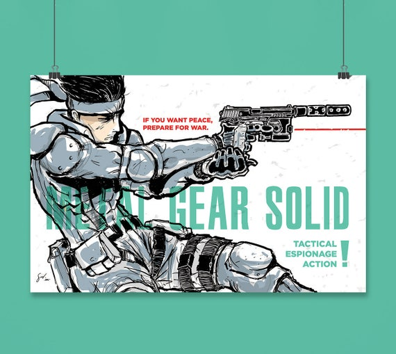 Metal Gear Solid Solid Snake Fan Art Poster Print