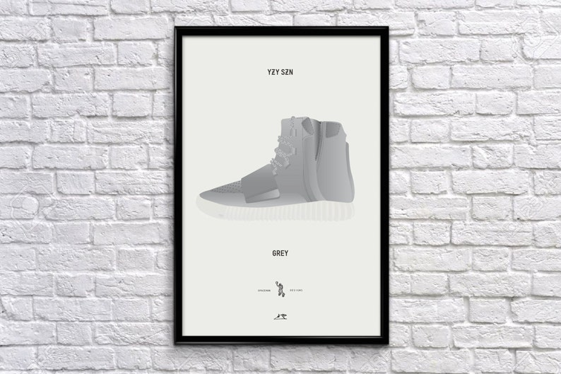 huge discount a4569 e4317 Yeezy 750 Sneaker Art Illustration