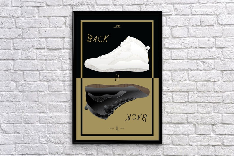 69f47e3dad4163 Back to Back Series  Air Jordan 10 OVO Poster