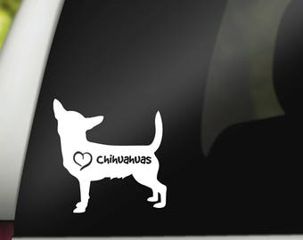 Personalized Chihuahua Decal Custom Chihuahua Sticker