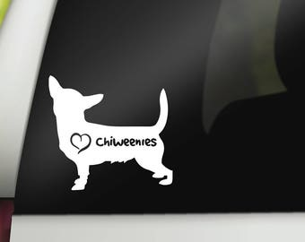 Chiweenie Decal - Dog Car Decal - Chiweenie Sticker - Dog Rescue - Chiweenie Accessories, Who Rescued Who