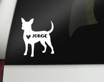 Chihuahua Decal - Dog Car Decal - Chihuahua Sticker - Dog Rescue - Chihuahua Accessories, Who Rescued Who