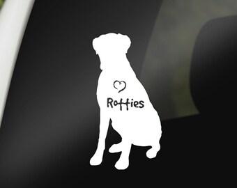 Personalized Rottweiler Decal Custom Rottweiler Sticker