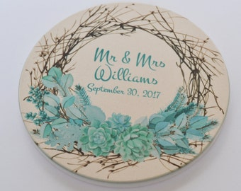 Personalized Coasters, Sandstone Coasters, Thirsty Coasters, Custom Coasters, Photo Coasters, Gift afor Her, Anniversary Gift, Wedding Gift