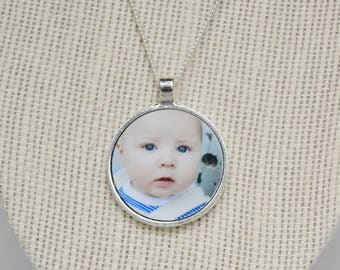 Drawing, Photo Ornaments, Commemorative Gift, Photo Necklace, Picture Necklace, Custom Drawing, Drawing Jewelry, Custom Picture Necklace