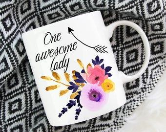 One Awesome Lady Coffee Mug