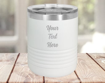 10 oz Stainless Steel Tumbler Personalized, Powder Coated Tumbler | Handmade in Harrisburg
