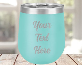 Stainless Steel Wine Tumbler Personalized, Custom Travel Tumbler, To Go Coffee Mug, Laser Engraved Tumbler, Insulated Cup, Custom Tumbler
