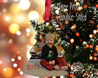 Christmas Tree Photo Ornament, Personalized Photo Ornaments | Handmade in Harrisburg