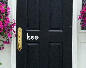 Boo Door Decal, Boo Front Door Decal | Handmade in Harrisburg