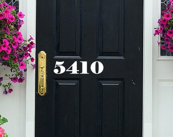 Door Number Decal Vinyl - Number Door Decal - Custom Home Number Decals - Front Door Decal