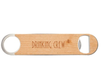 Custom Engraved Bottle Opener, Wood Personalized Bottle Opener