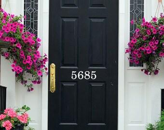 Door Number Decal Vinyl - Number Door Decal - Custom Home Number Decals - Front Door Decal