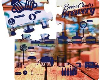 Custom Photo Coaster Puzzle, Custom Coasters, Personalized Coasters, Christmas Gift,