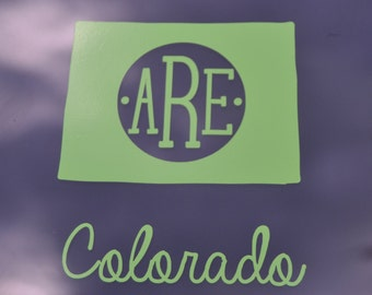 Colorado Monogram Decal - State Decal - State Sticker - State Monogram