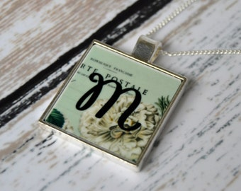 Initial Pendant Necklace,  Personalized Jewelry,  Letter Necklace, Gift for Her, Mother's Day Gift, Photo Jewelry Gift, Bridesmaid Gifts