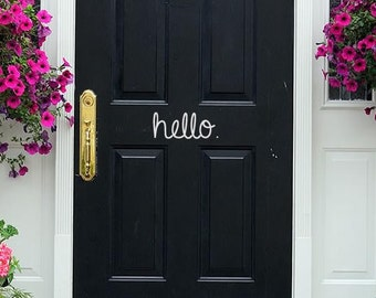 Door Decal - Front Door Decal - Hello Door Decal - Front Door - Door Decor