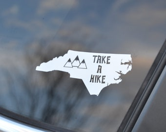 Hiking Decal - Take a Hike - Hiking Car Decal - Camping Decal - Hiking Sticker - State Hiker