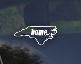 North Carolina Home Decal - North Carolina State  Decal - State Home Decal - State Home Sticker - State Home -  NC Decal - Choose YOUR State
