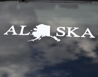 Alaska State Decal - Alaska Vinyl Decal - Alaska Sticker - Alaska Car Decal - Alaska Vinyl - State Car Decal