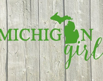 Michigan Girl Decal, Michigan Girl Sticker, Michigan Girl Sticker, Michigan Girl Stickers, Michigan Decal, Michigan Bumper Sticker, Decals