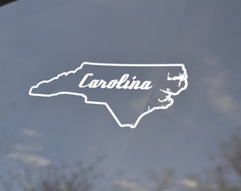 North Carolina Car Decal - North Carolina Decal - North Carolina Sticker - North Carolina Decals - North Carolina Stickers - NC Decal