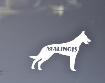 Malinois Car Decal, Belgian Malinois  Decal, Decal Malinois Dog, Malinois Vinyl, Belgian Malinois Sticker, Police Dog Decal, IPO Decals
