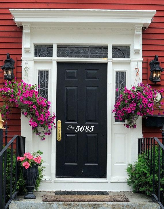 House Numbers Front Door Decal Door Number Decal Front | Etsy