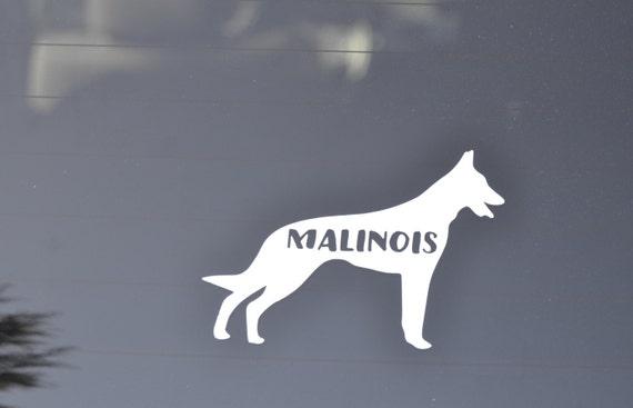 """Belgian Sheepdog Dog Breed Shape Oval car window bumper vinyl sticker 5/"""" x 3/"""""""