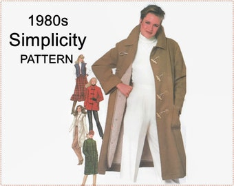 1980s Sewing Pattern - Simplicity 5285 Sewing Pattern - Misses Coat in 2 Lengths, Quilted Coat, Vest, Button  Lining - Size 14 Bust 36 UNCUT