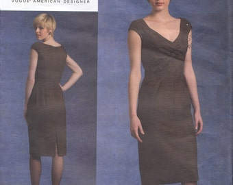 Vogue Michael Kors Cocktail Dress Sewing Pattern- Vogue V1117 - Size 4 6 8 10 - Bust 29 30 32 - UNCUT - English & French Instructions 1117