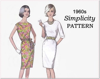 1960s Summer Dress Sewing Pattern - Vintage Simplicity 4947 - Misses One-Piece Jiffy Dress - Size 14 Bust 34 - Simple to Make Shift Dress